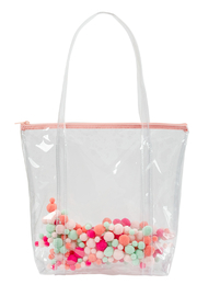 Talking Out Of Turn Pom Pom Twinkles Tote - Front cropped