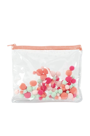 Talking Out Of Turn  Pom Poms Dollface Flat Pouch - Product Mini Image