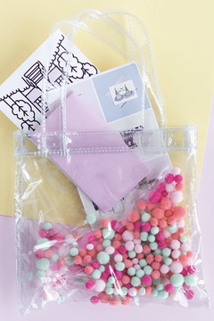 Talking Out Of Turn Pom Poms Itty Bitty Tote - Alternate List Image