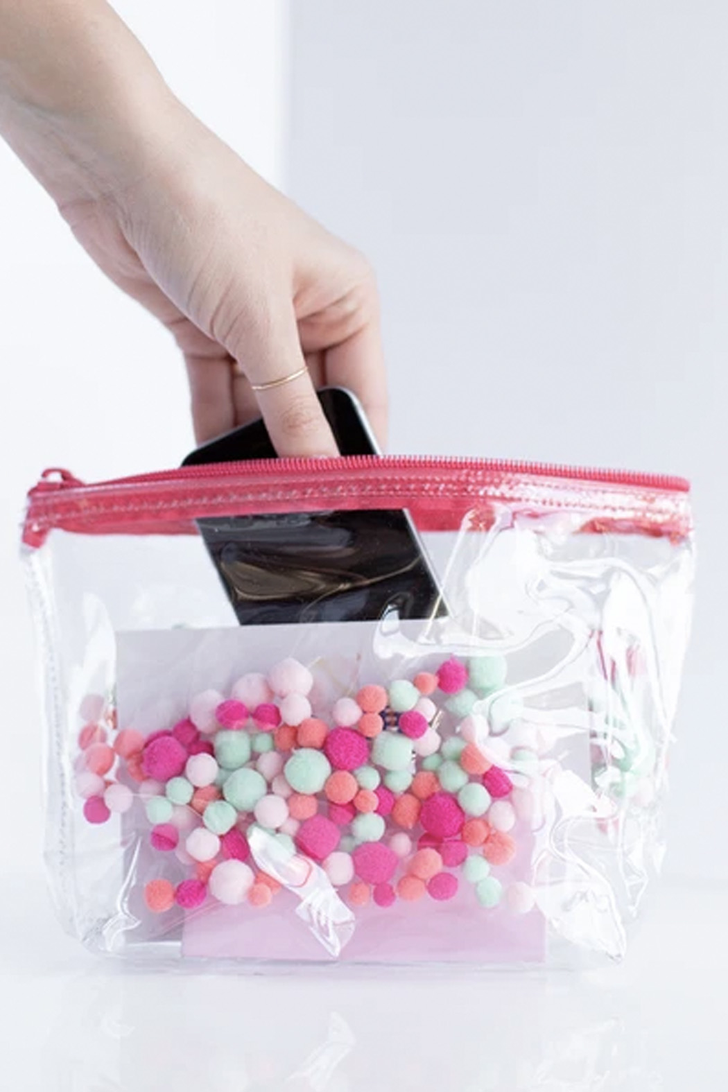 Talking Out Of Turn Pom Poms Tweedle Dee Pouch - Front Full Image