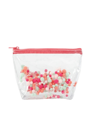 Talking Out Of Turn Pom Poms Tweedle Dee Pouch - Front cropped
