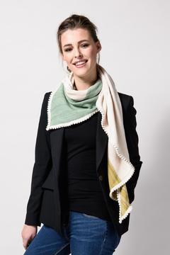 Shoptiques Product: Colourblock Knitted Shawl