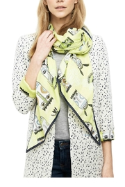 POM Amsterdam Cotton Shawl Lime - Front cropped