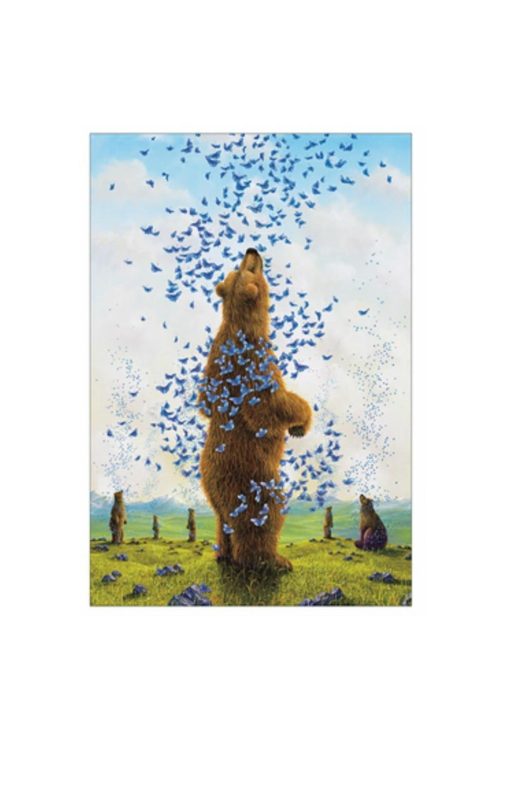 Pomegranate Bears By Bissell Notecard - Side Cropped Image