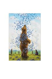 Pomegranate Bears By Bissell Notecard - Side cropped