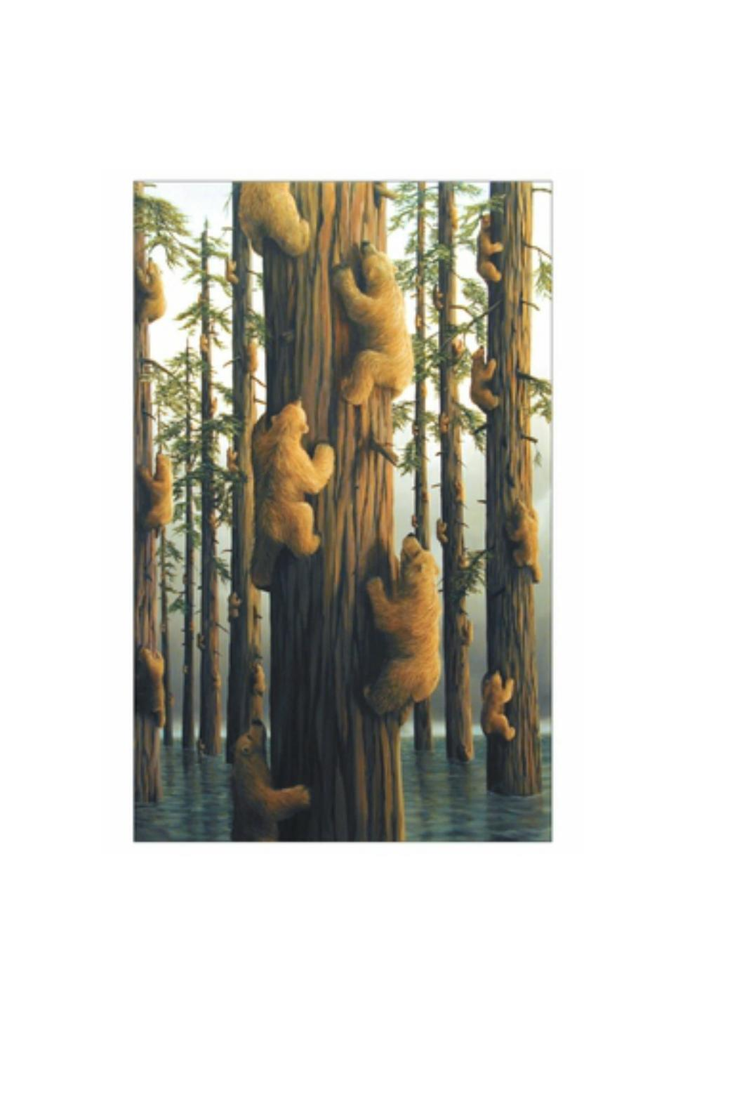 Pomegranate Bears By Bissell Notecard - Back Cropped Image