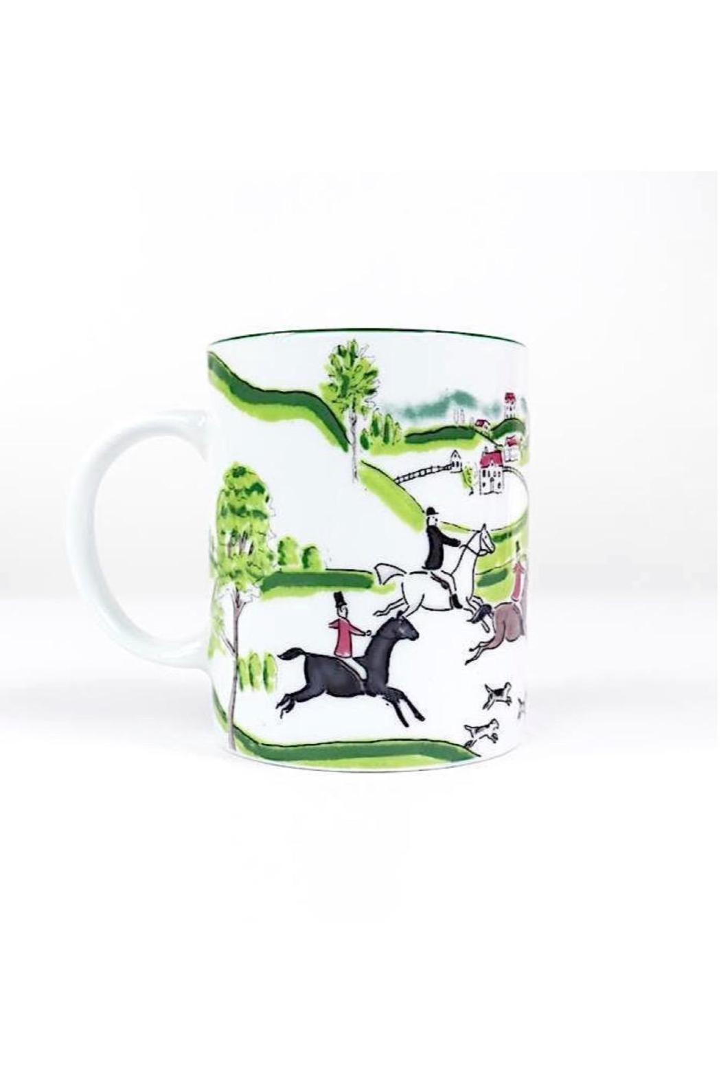 Pomegranate Ceramic Equestrian Mug - Main Image