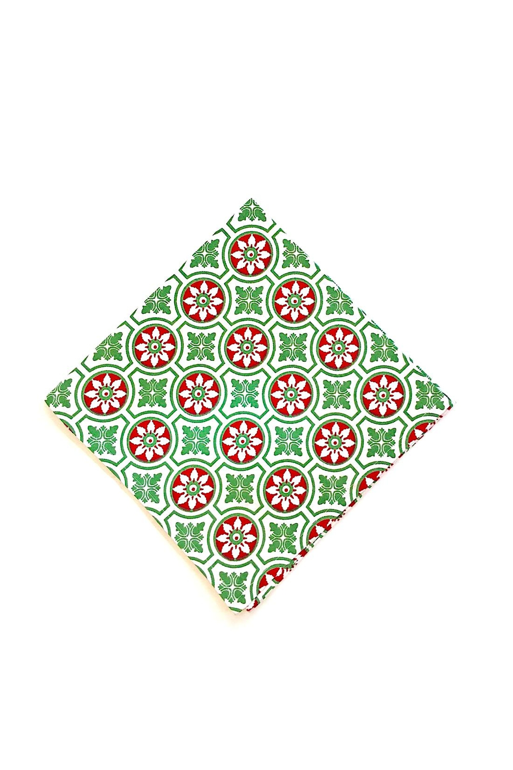 Pomegranate Christmas Print Napkin - Front Cropped Image