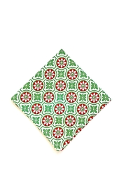 Pomegranate Christmas Print Napkin - Front cropped