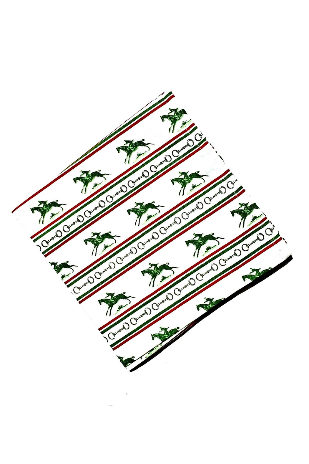 Pomegranate Equestrian Print Napkin - Front Cropped Image