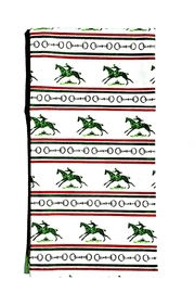 Pomegranate Equestrian Stripe Towel - Product Mini Image