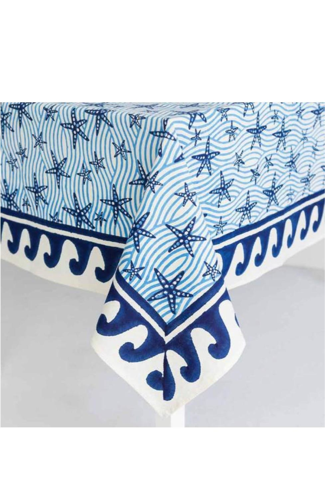 Pomegranate Seaside Starfish Tablecloth - Front Full Image