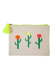 Meri Meri Pompom Cactus Large Canvas Pouch - Product Mini Image