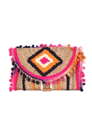 America & Beyond Pompom Flap Clutch - Product Mini Image