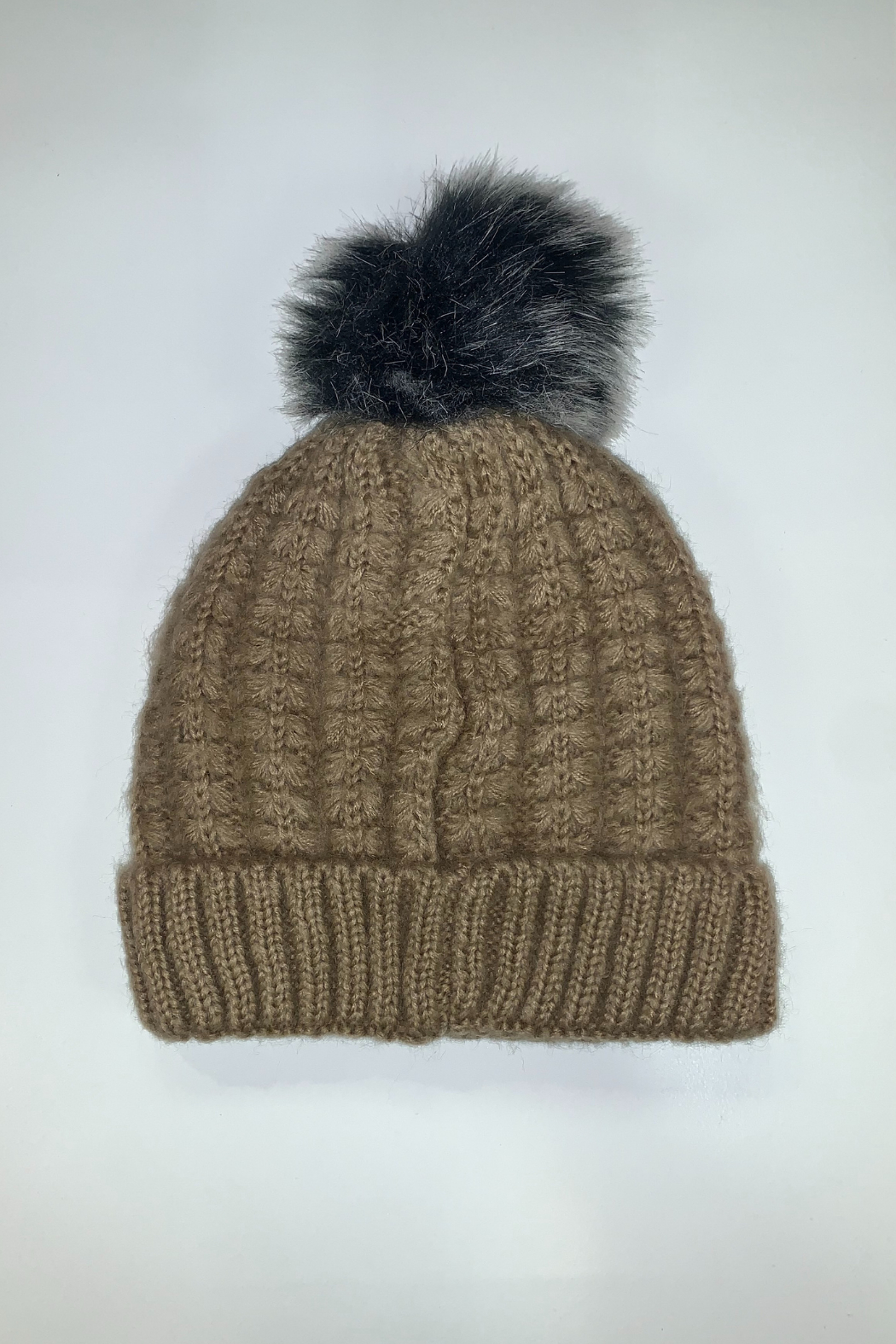 Giftcraft Inc.  Pompom Knit Hat - Front Cropped Image