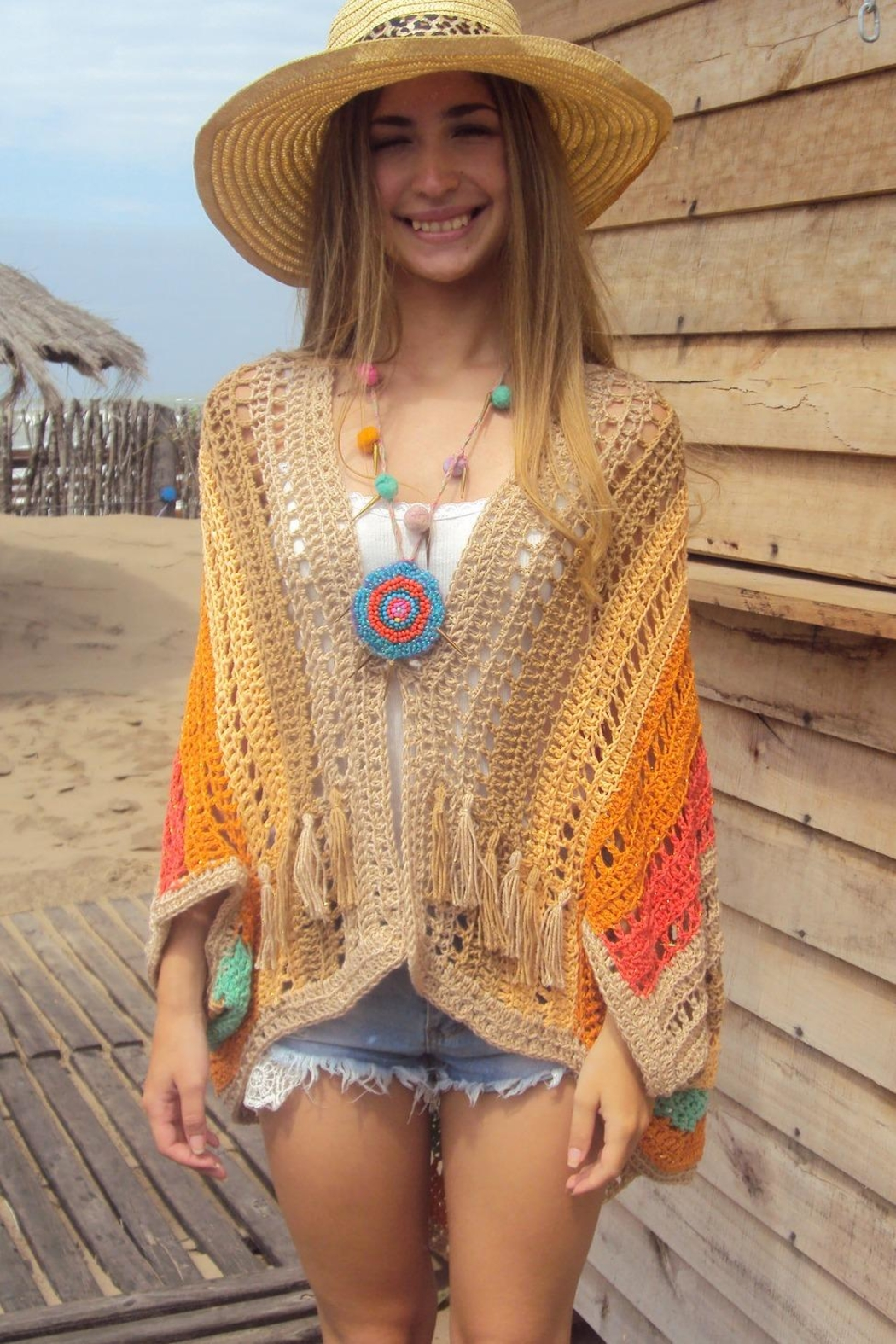 De Mil Amores Buenos Aires Poncho Bohemian - Front Full Image