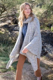 Tribal  Poncho Cape With Detachable Collar - Product Mini Image