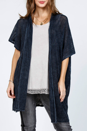 M-rena  Poncho Cardigan Sweater - Front cropped