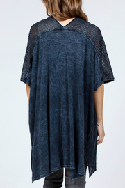 M-rena  Poncho Cardigan Sweater - Front full body
