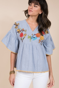 Ivy Jane / Uncle Frank  Poncho Top with Dragonfly Embroidery - Alternate List Image