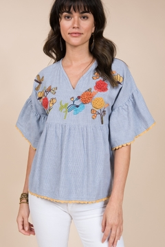 Ivy Jane / Uncle Frank  Poncho Top with Dragonfly Embroidery - Product List Image