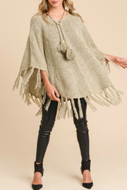 Doe & Rae Poncho with Fringe - Product Mini Image