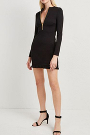 French Connection PONTE JERSEY LONG SLEEVE BLACK DRESS - Front full body