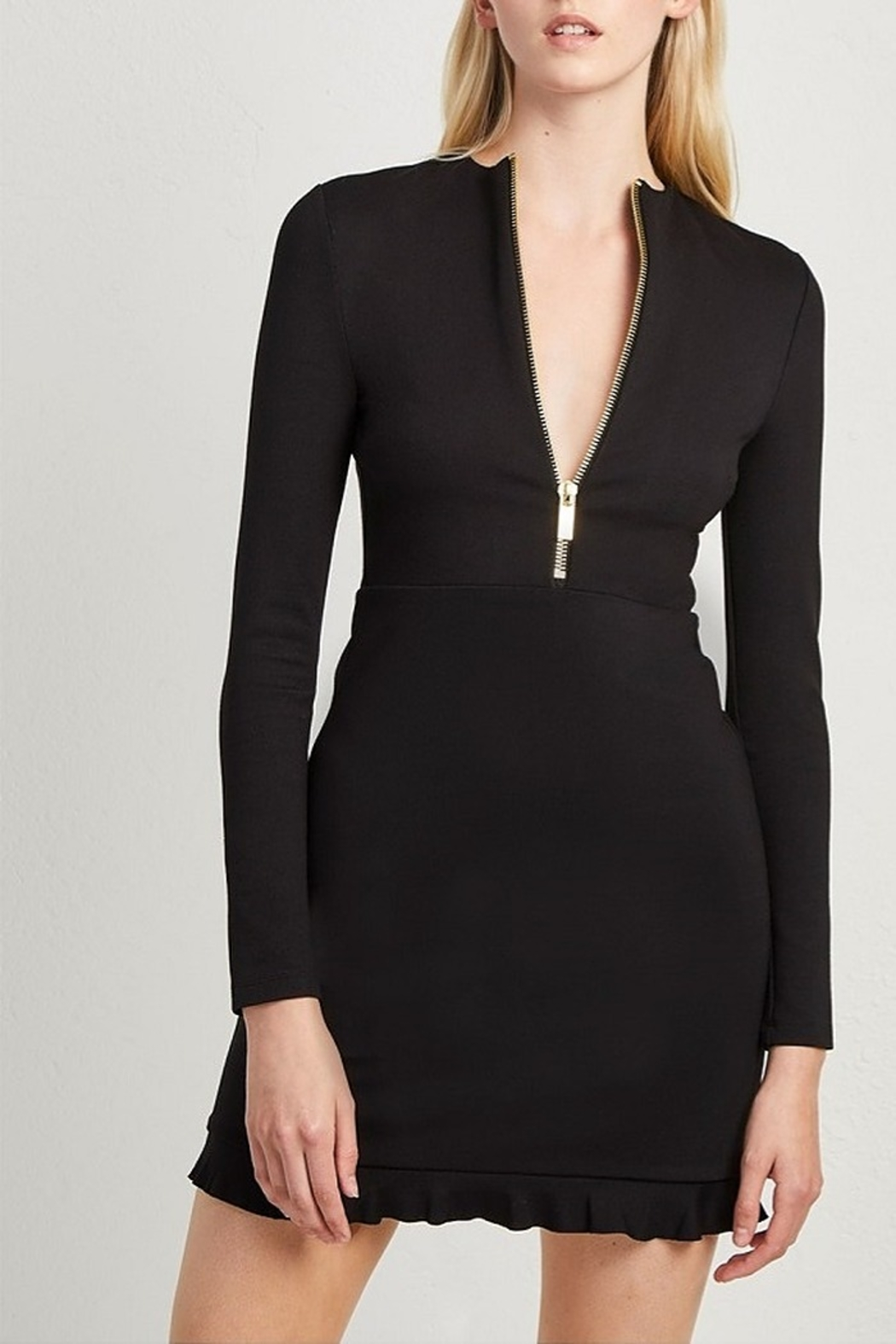French Connection PONTE JERSEY LONG SLEEVE BLACK DRESS - Main Image