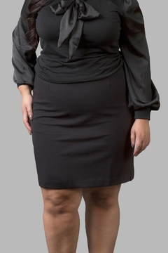 Love By Yona Ponte Pencil Skirt-Black - Product List Image