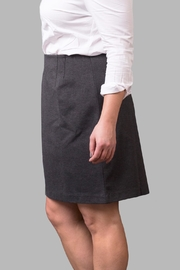 Love By Yona Ponte Pencil Skirt-Grey - Front full body