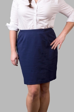 Love By Yona Ponte Pencil Skirt-Navy - Product List Image