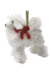 Arcadia Home Poodle - Hand Knit Alpaca Ornament - Front cropped