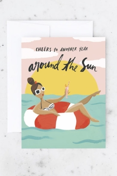 Shoptiques Product: Pool Girl Birthday Card