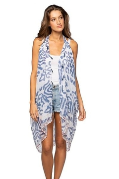 subtle luxury Pool To Party Free Spirit Vest in Bali Beauty - Product List Image
