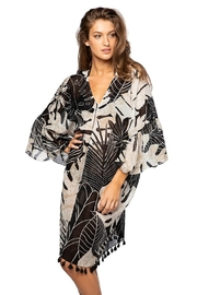 subtle luxury Pool To Party Night Leaves Bell Sleave Kaftan - Product Mini Image