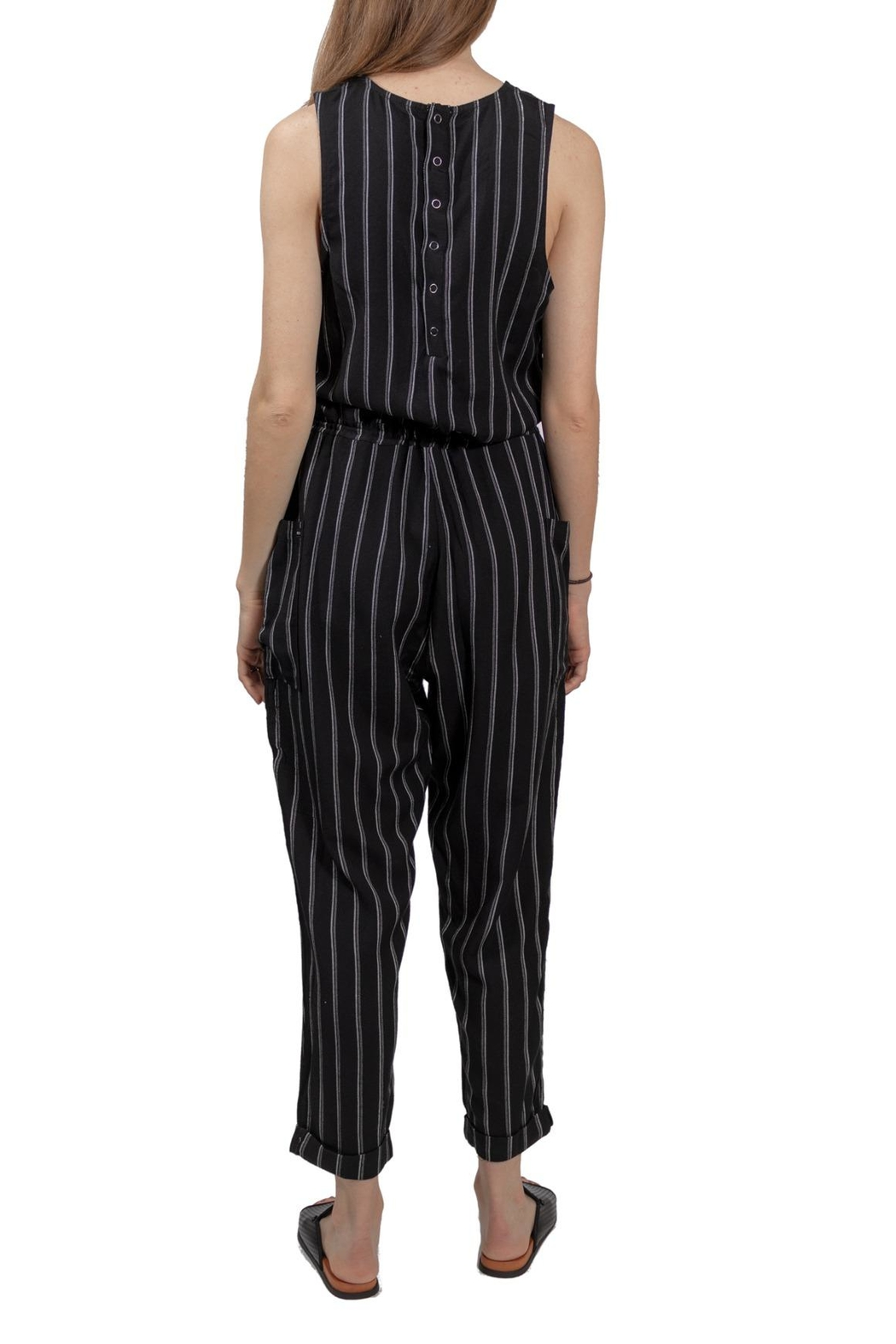 RVCA Pop Out Jumpsuit - Back Cropped Image