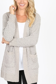 Lyn -Maree's Popcorn Cardi - Front cropped