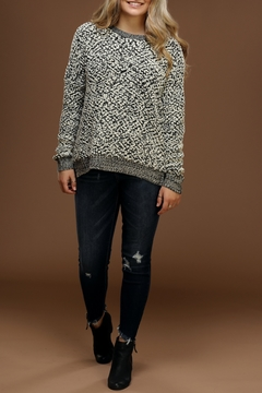 Staccato Popcorn-Knit Pullover Sweater - Product List Image