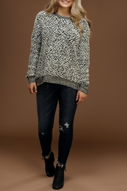 Staccato Popcorn-Knit Pullover Sweater - Product Mini Image