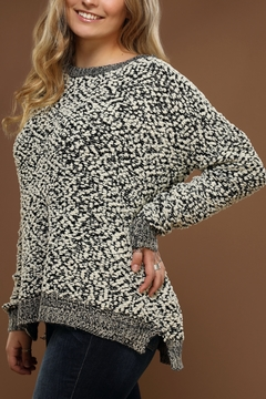 Staccato Popcorn-Knit Pullover Sweater - Alternate List Image