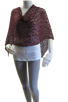 Made on Earth Popcorn Knitted Poncho - Alternate List Image
