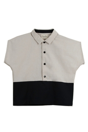 Popelin Boys Shirt With Collar - Front cropped