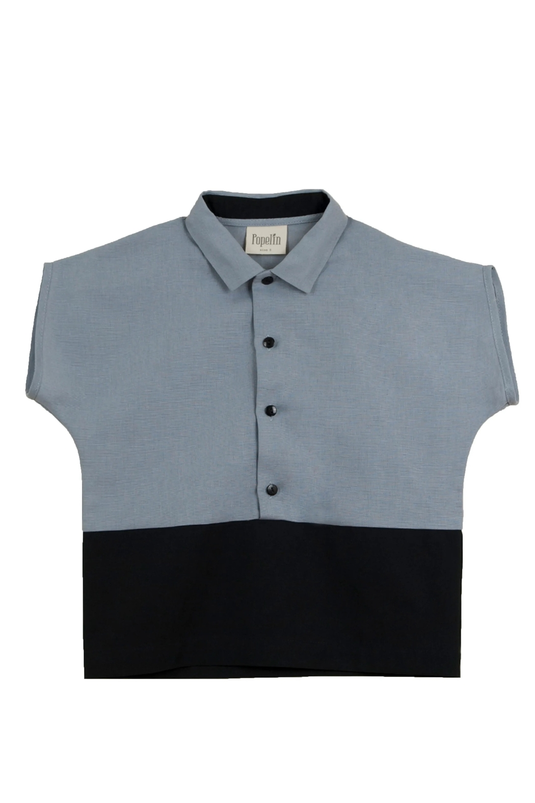 Popelin Boys Shirt With Collar - Front Cropped Image