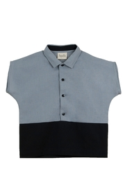 Popelin Boys Shirt With Collar - Product Mini Image