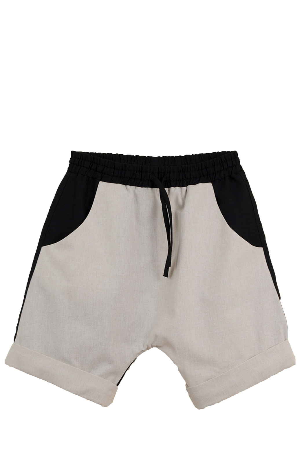 Popelin Boys Two -Tone Bermuda Shorts - Front Cropped Image