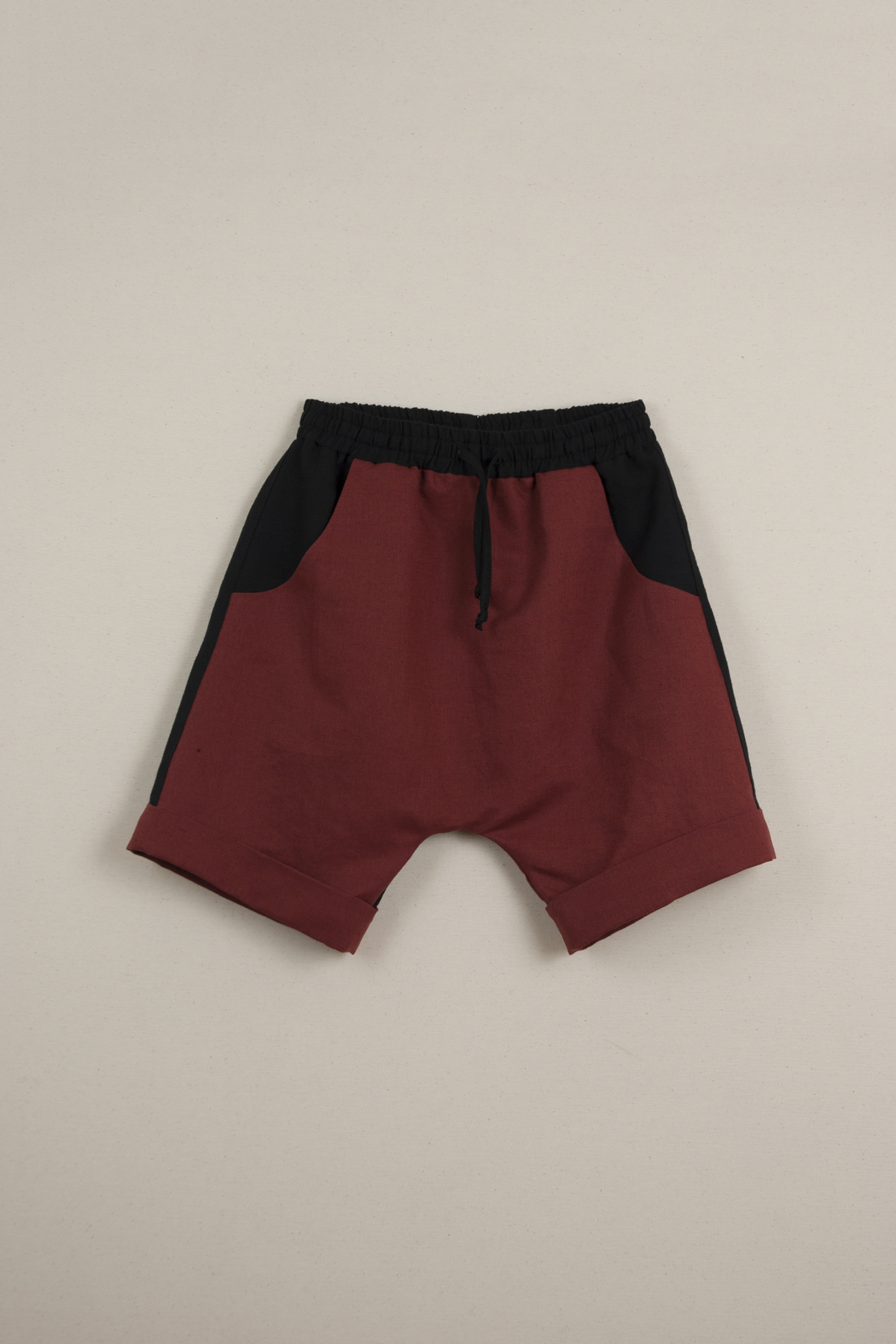 Popelin Boys Two -Tone Bermuda Shorts - Front Full Image