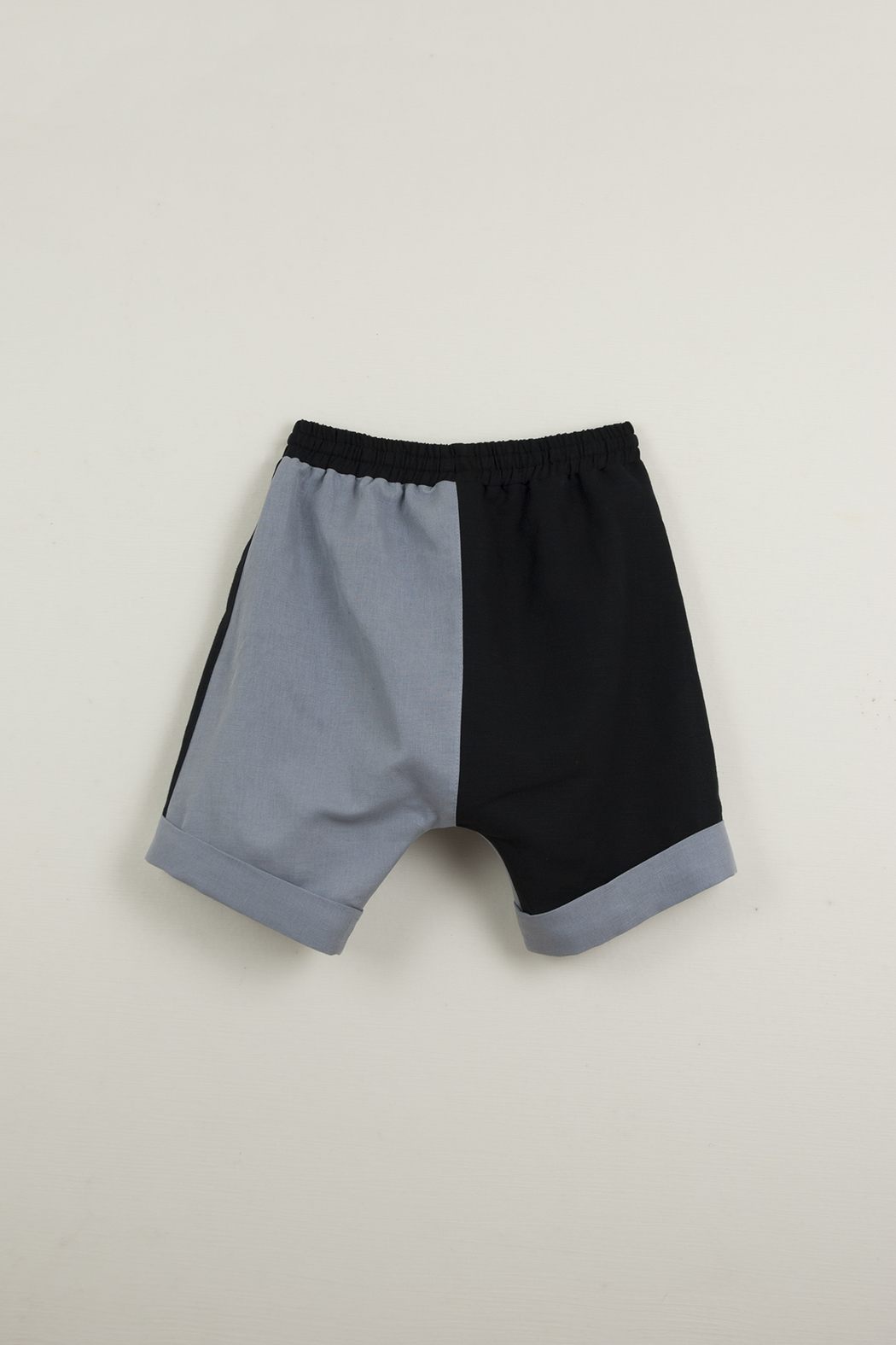 Popelin Boys Two -Tone Bermuda Shorts - Side Cropped Image