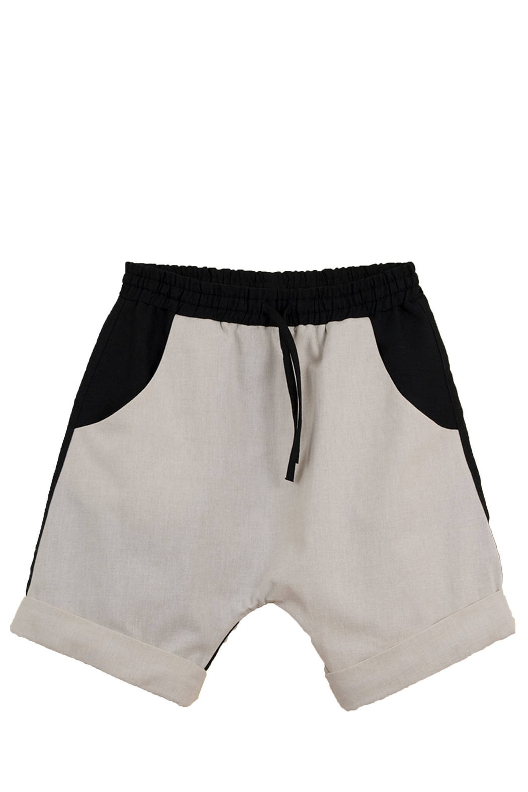 Popelin Boys Two Tone Bermuda Shorts - Front Cropped Image