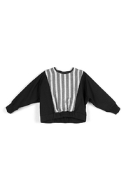 Popelin Contrasting Yoke Sweater with knitted Elasticated Waist for Boys - Product Mini Image