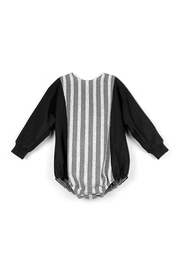 Popelin Grey Striped Pure Cotton Romper Suit for Boys or Girls - Product Mini Image
